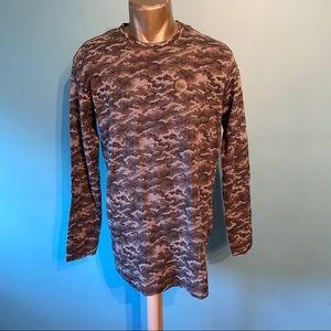 BNWOT Men's Zara pixilated camo print shirt